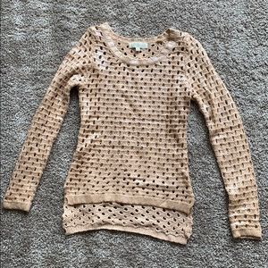 Olive & Oak Peachy Sweater with Holes